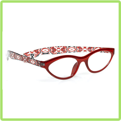 High Beams in Shiny Clear Red front with Multicolor temples